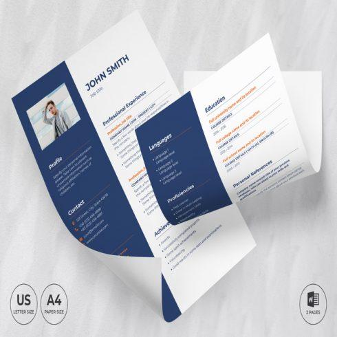 Marketing Agency CV Resume Template main cover.