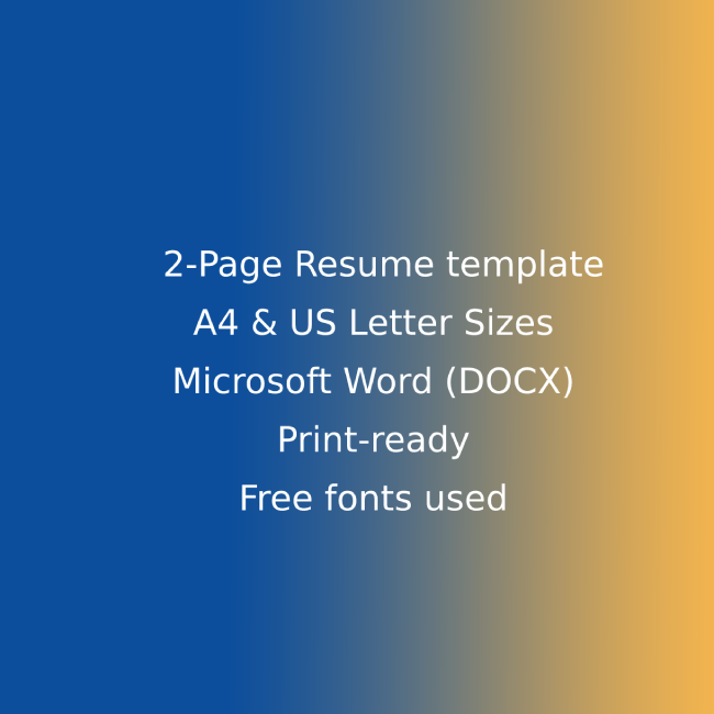 Marketing Agency CV Resume Template cover image.