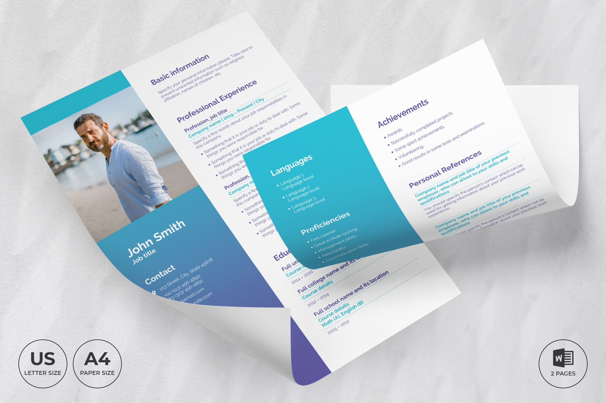 Medical Clinic CV Resume Template.