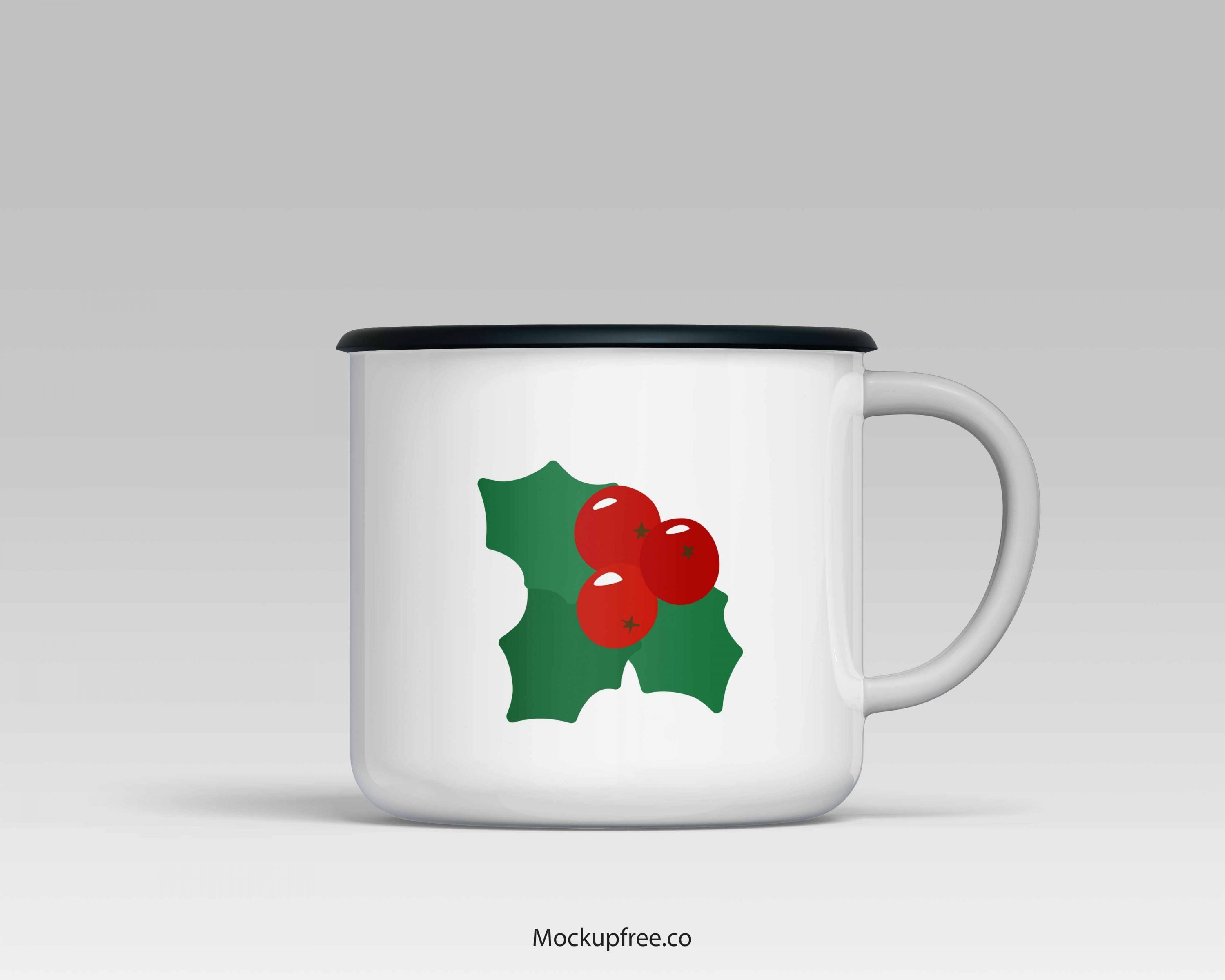 White Christmas cup.