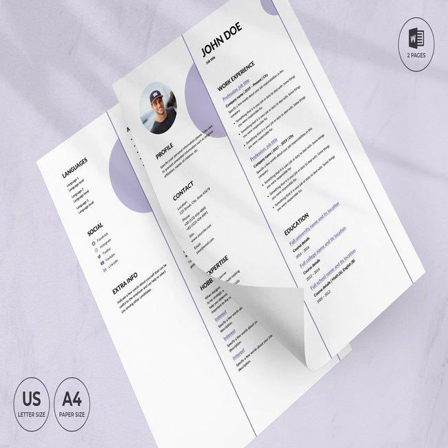 Music Band CV Resume Template main cover.