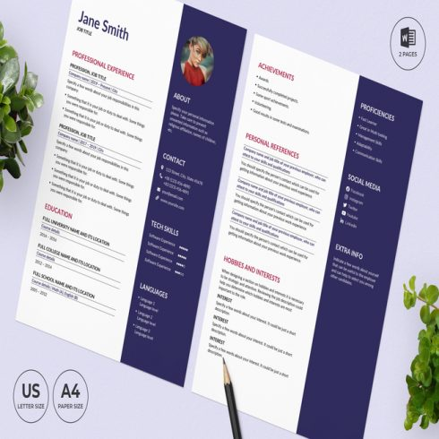 Nail Studio CV Resume Template main cover.