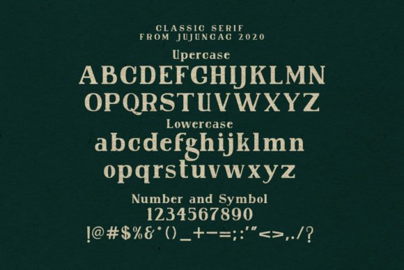 It is an aristocratic font with sustained colors.