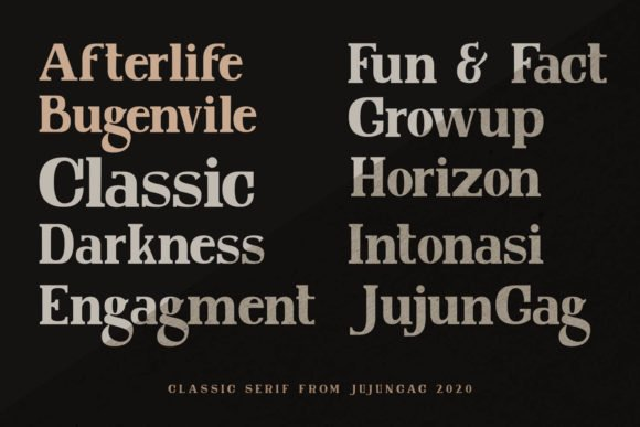The font has a versatile style and can be used for a variety of purposes.