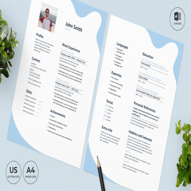 Online Courses CV Resume Template main cover.