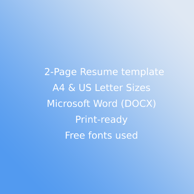 Online Courses CV Resume Template cover image.