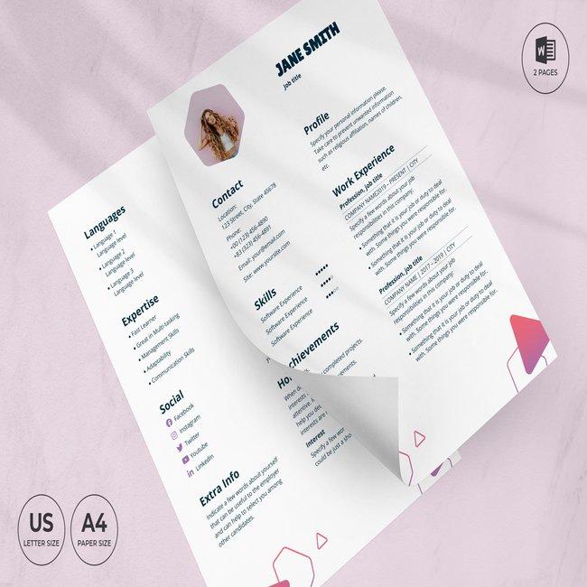 Pet Grooming Care CV Resume Template main cover.