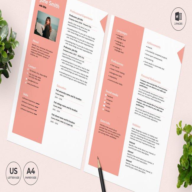 Pharmacy CV Resume Template main cover.