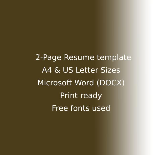 Pub CV Resume Template cover image.