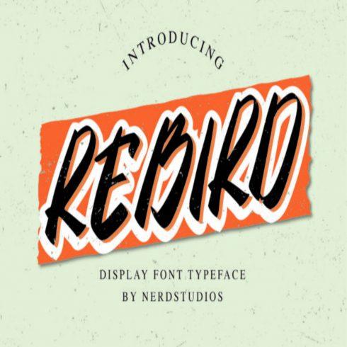 Rebird Fonts main cover.
