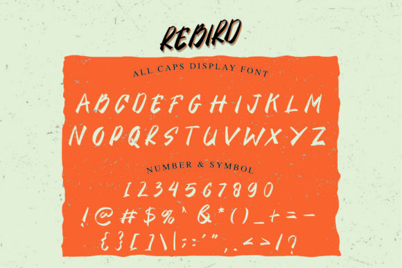 This font has bright letters that draw attention to itself.