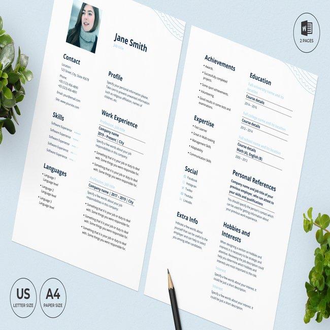 Resort CV Resume Template main cover.