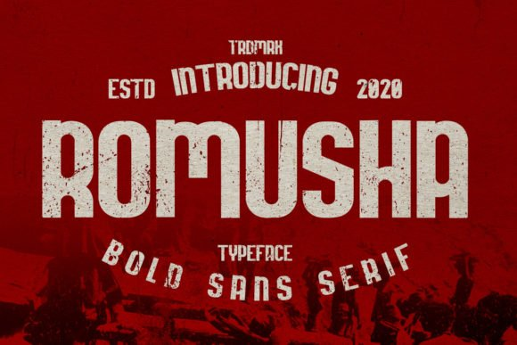 Red background with vintage font.