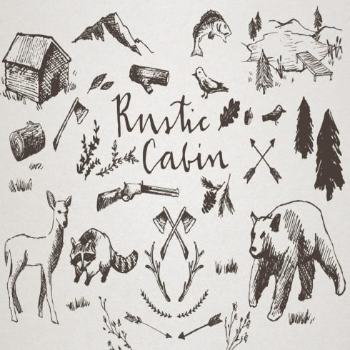 Rustic Cabin Crosshatch Sketches main cover.