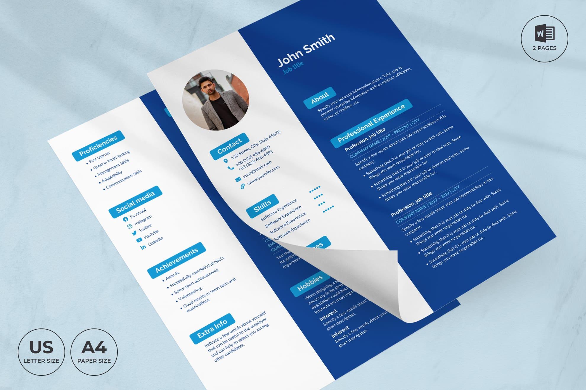 SEO Agency CV Resume Template.