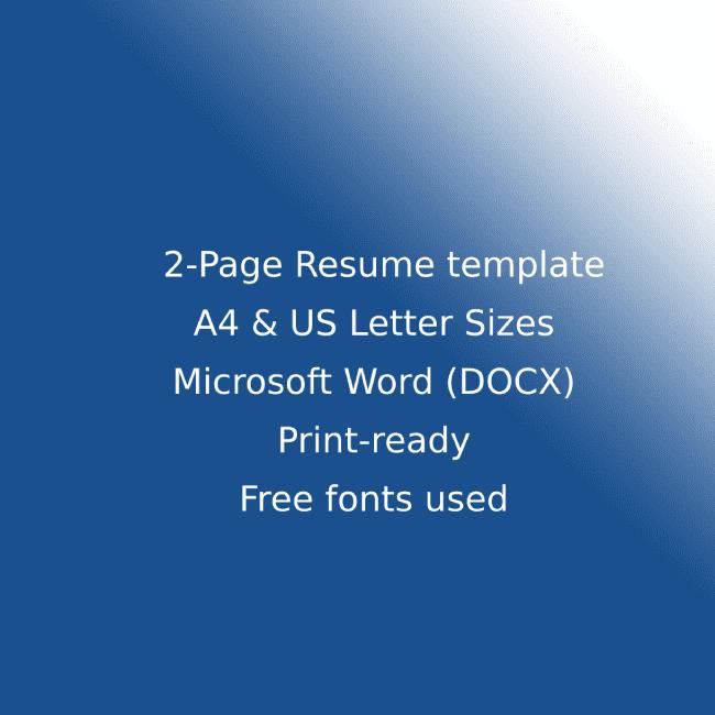 SEO Agency CV Resume Template cover image.