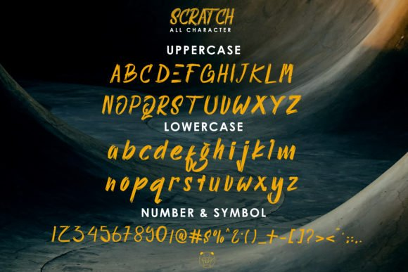 General view of Scratch Font.