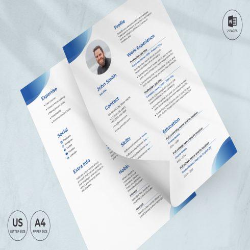 Scuba Diving School CV Resume Template main cover.