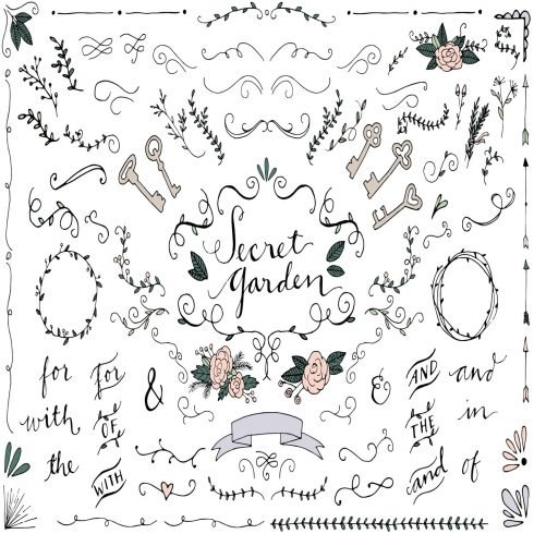 Secret Garden Wedding Illustrations main cover.