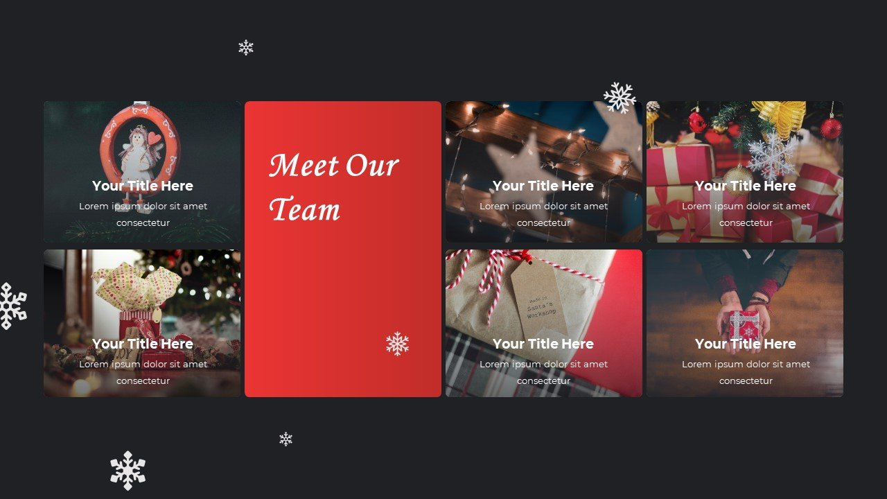 Festive Christmas template in traditional colors.
