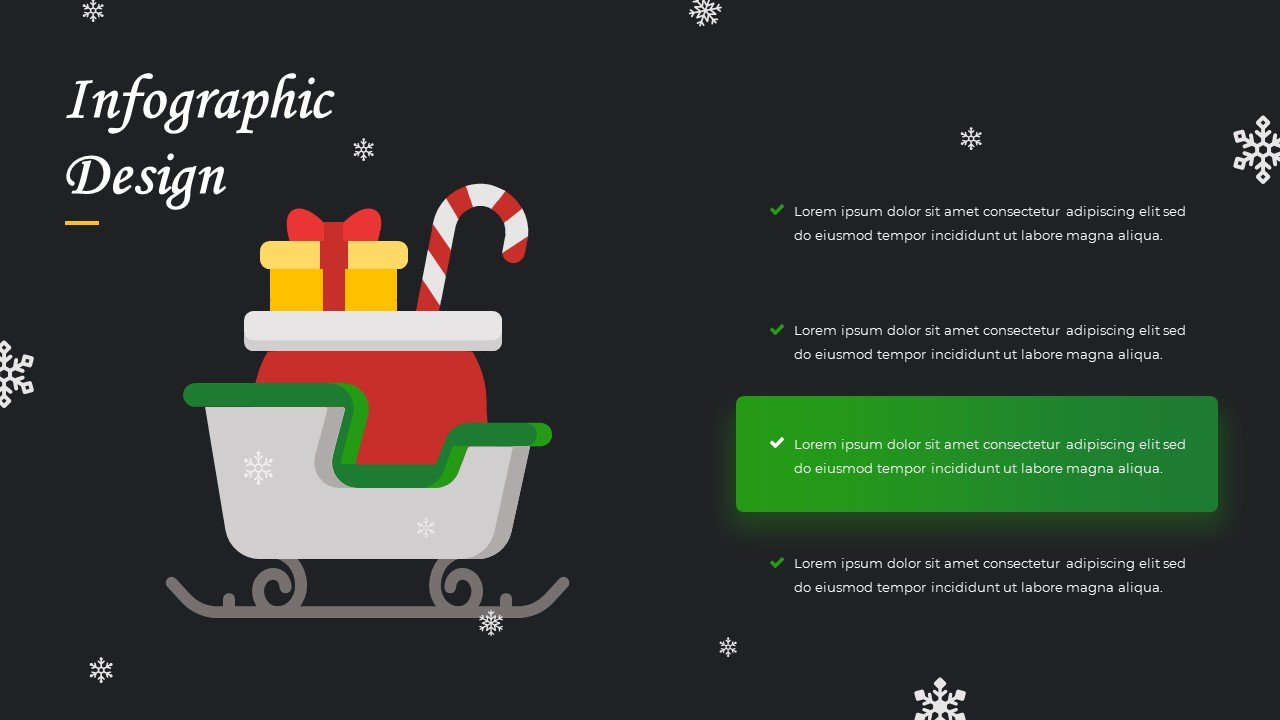 Sleigh of Santa Claus with gifts. This is the best illustration.