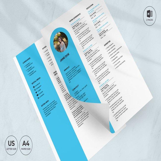 Spa Salon CV Resume Template main cover.
