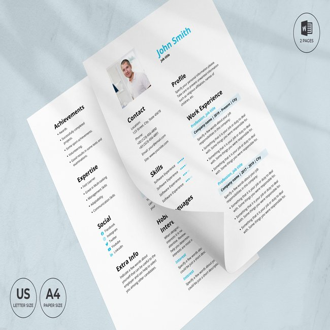 Staffing Agency CV Resume Template main cover.
