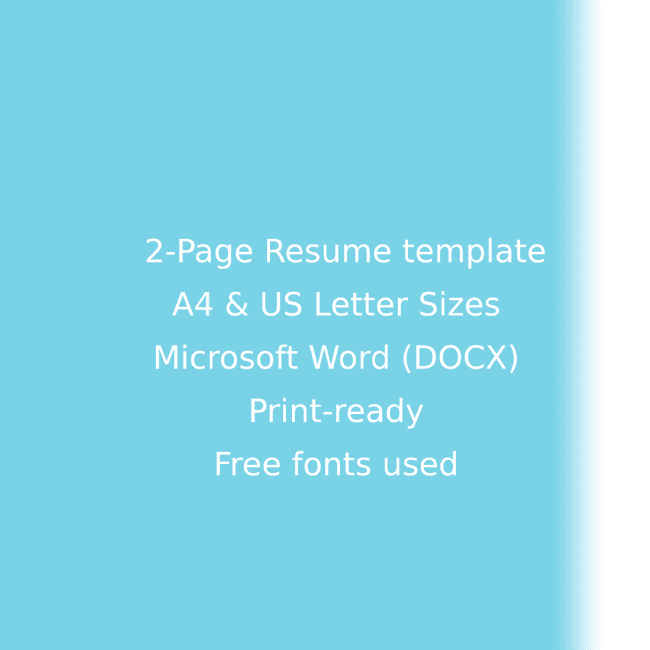 Staffing Agency CV Resume Template cover image.