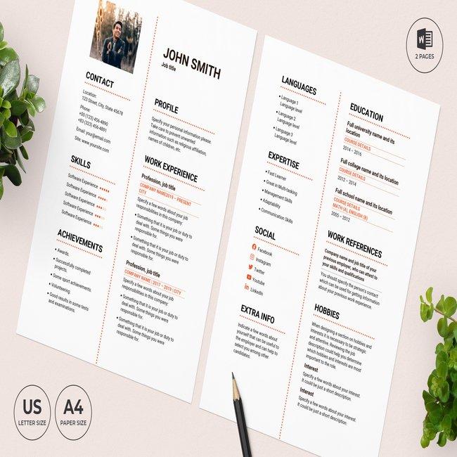 Steak House CV Resume Template main cover.