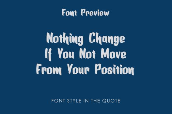 Dancing font in grey color.