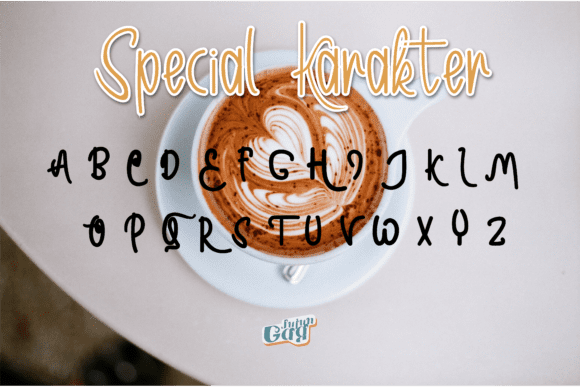 Sweet coffee goes well with this font.