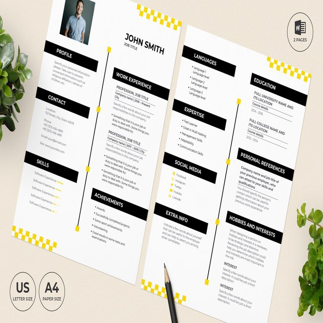 Taxi Service CV Resume Template main cover.