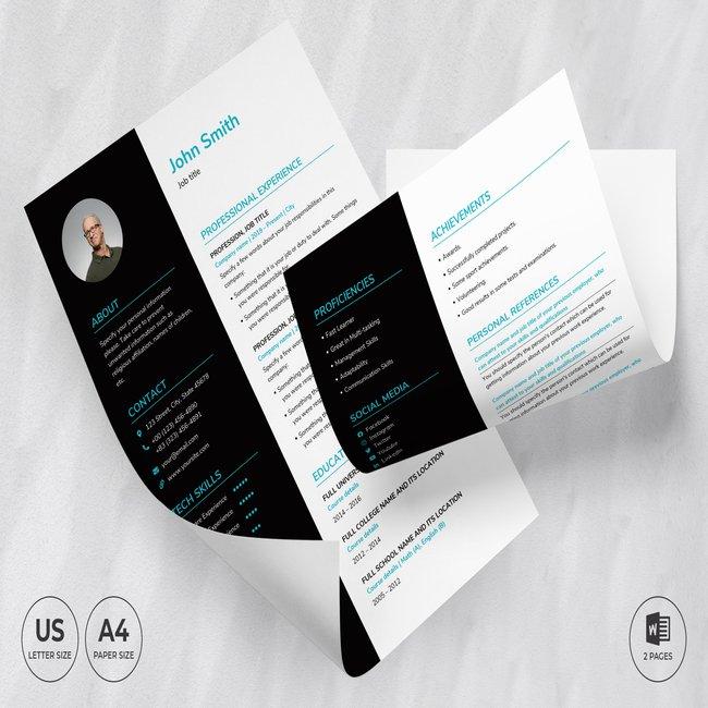 Tech Startup CV Resume Template main cover.
