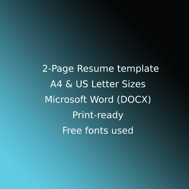 Tech Startup CV Resume Template cover image.