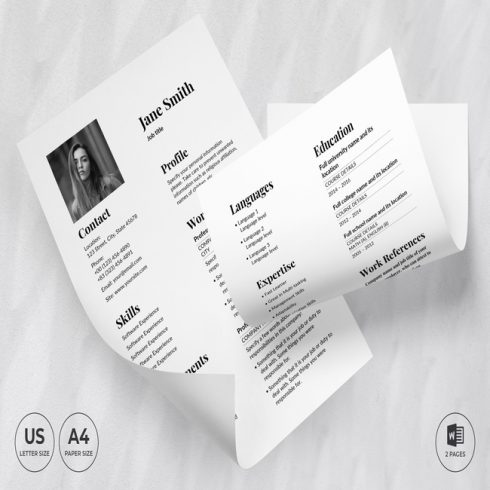 Theater CV Resume Template main cover.