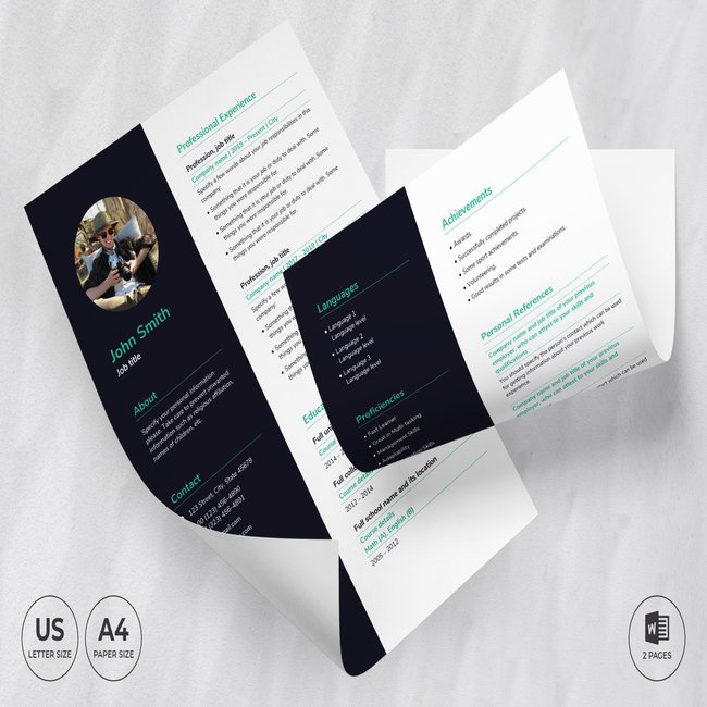 Tours And Travels CV Resume Template main cover.