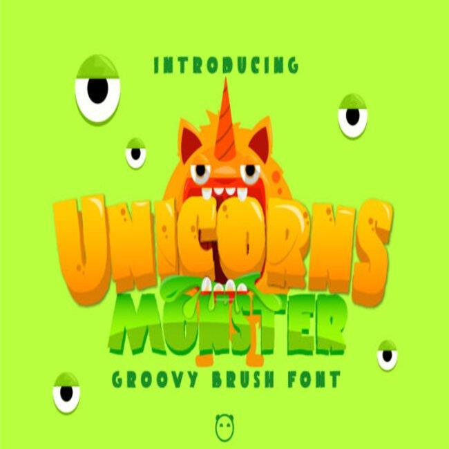 Unicorns Monster Fonts main cover.
