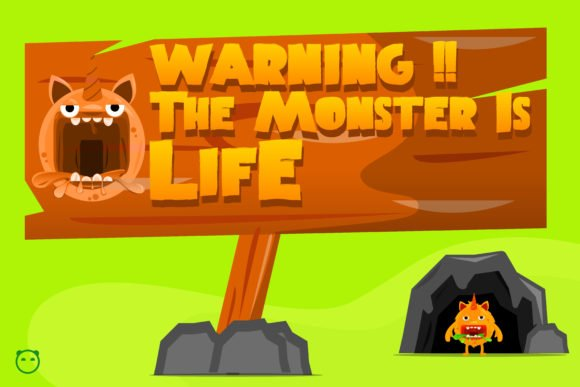 This is vivid illustration of monster life.