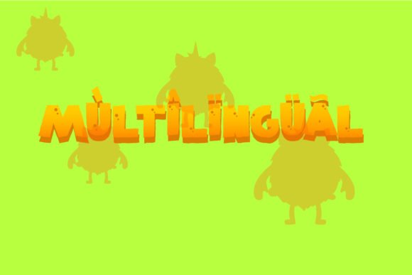 This unicorns monster font is multilingual.