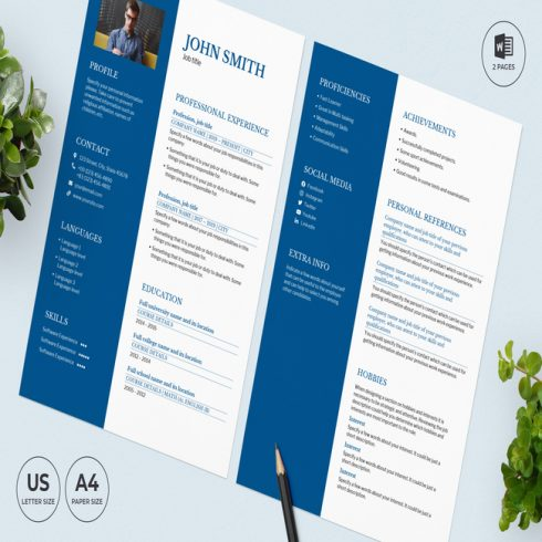 Vacation Rental CV Resume Template main cover.