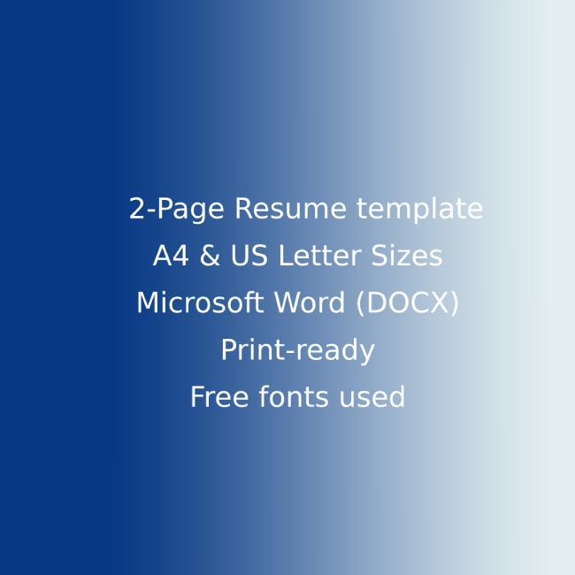 Vacation Rental CV Resume cover image.
