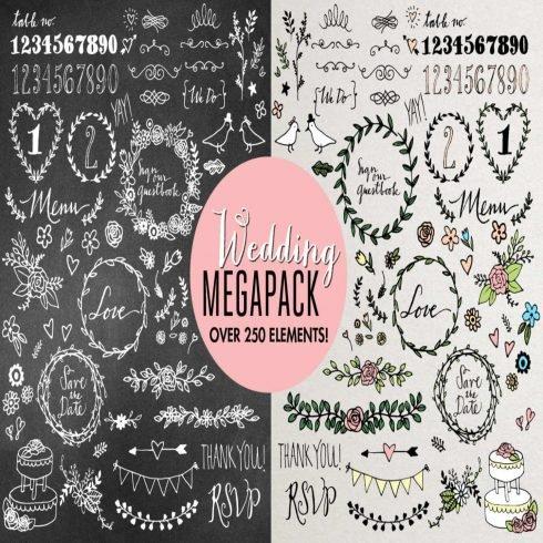 Wedding Illustrations Megapack main cover.