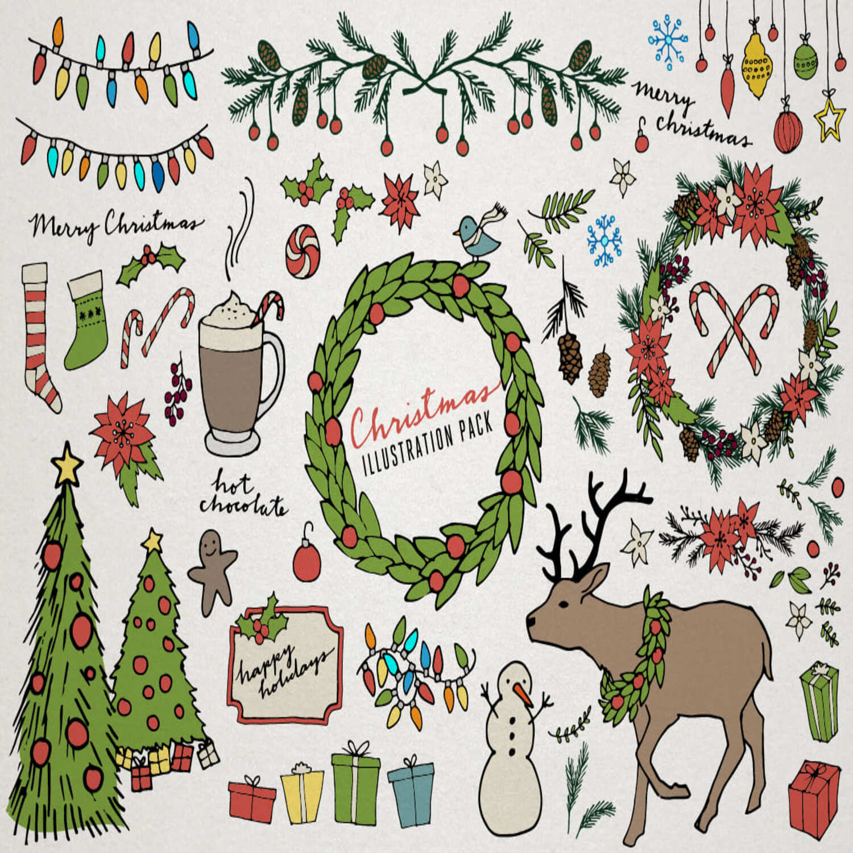 Christmas & Holiday Illustrations main cover.