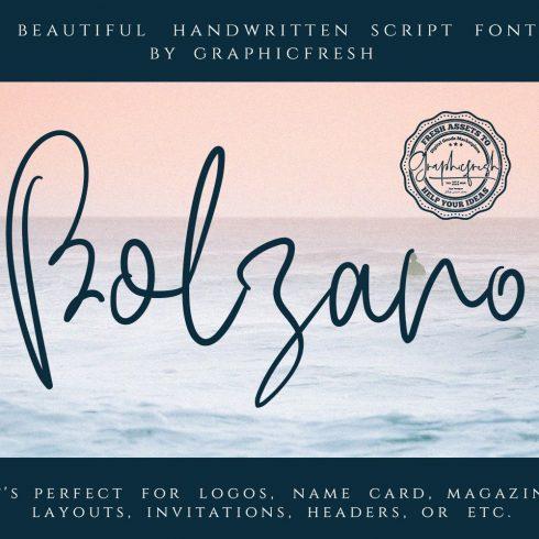 Bolzano - A Beautiful Script Font Example.