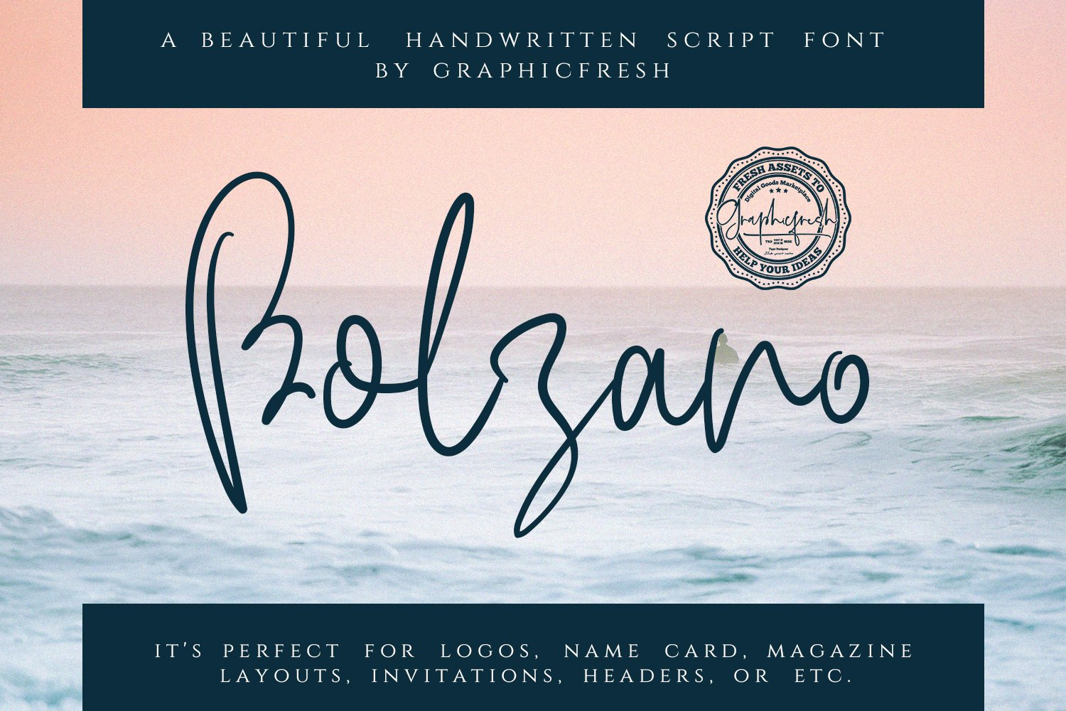 A free and light font with a sea breeze.
