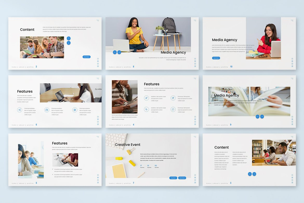 This template is contemporary and understandable. It will help you to convey the hardest data to auditoria.