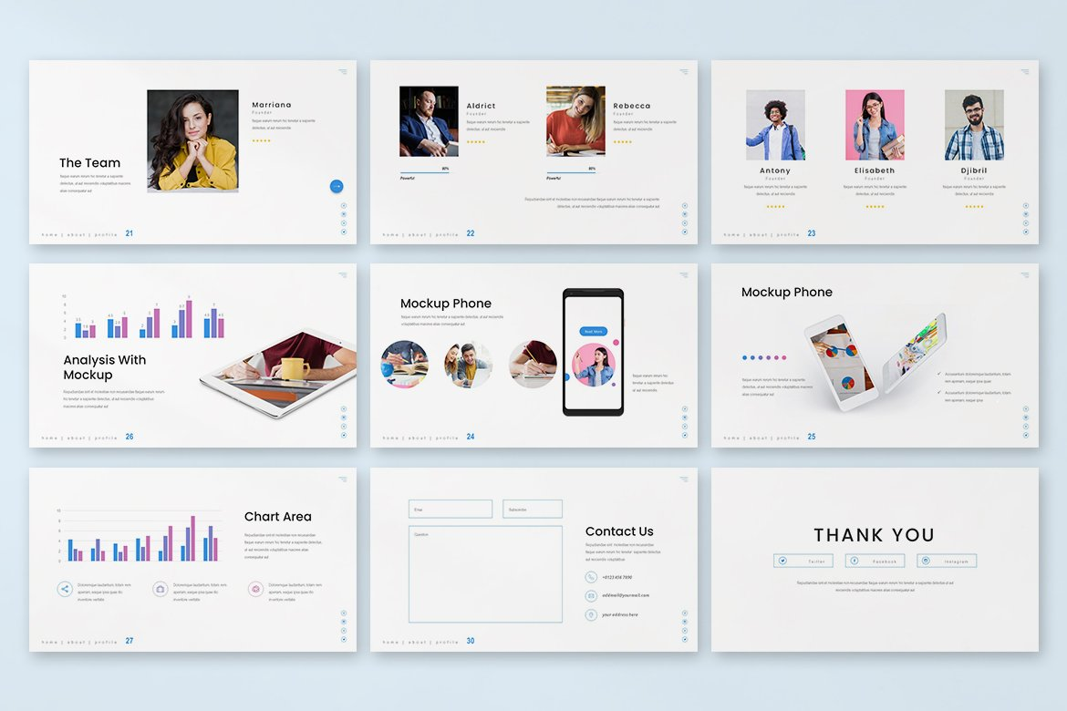 Universal template is mobile friendly and has a flexibility design.