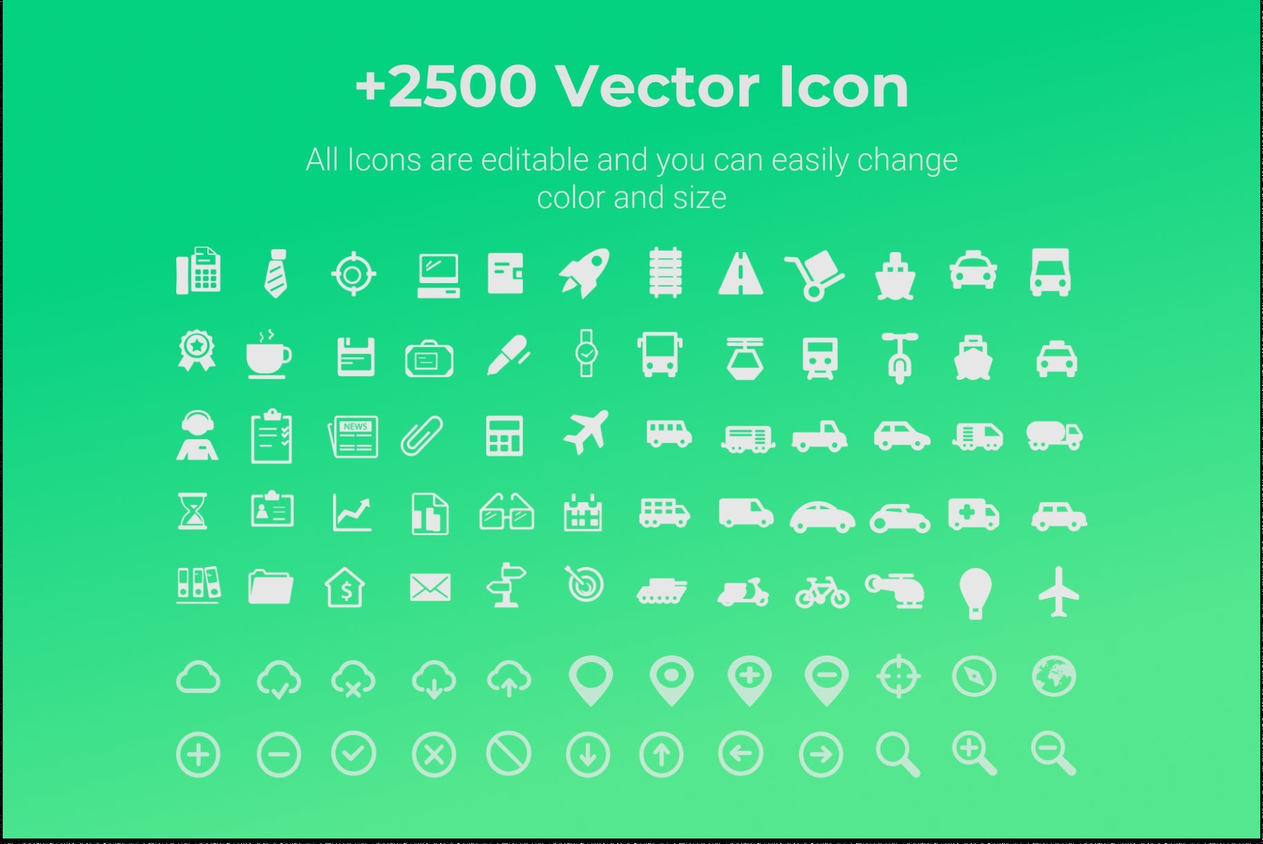Here is a whole set of icons for a variety of presentation.