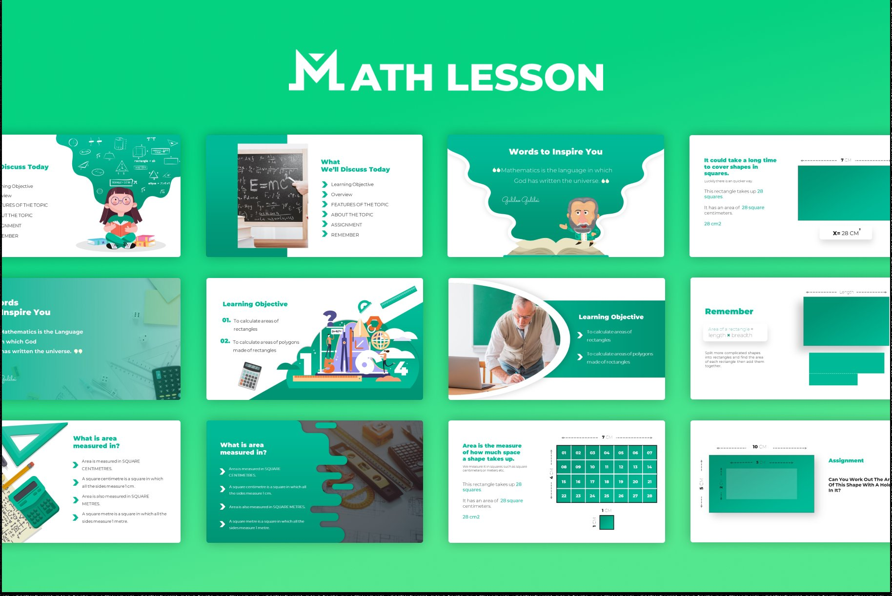 There are many math-related slides here.