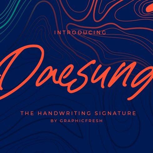 Daesung - The Handwriting Signature Example.